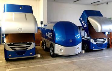 Ледозаливочный комбайн для катков до 1200 м² n-ICE M12000 (бензин/газ)