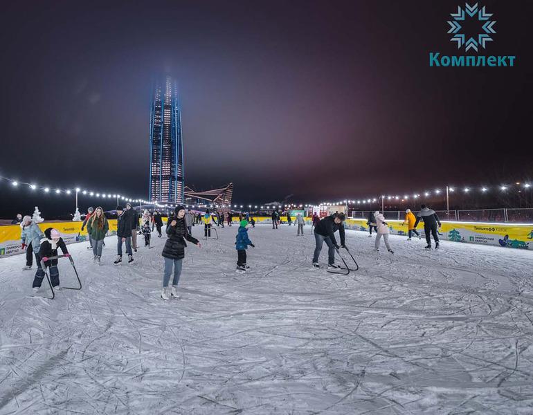Каток в Санкт-Петербурге у Лахта Центра